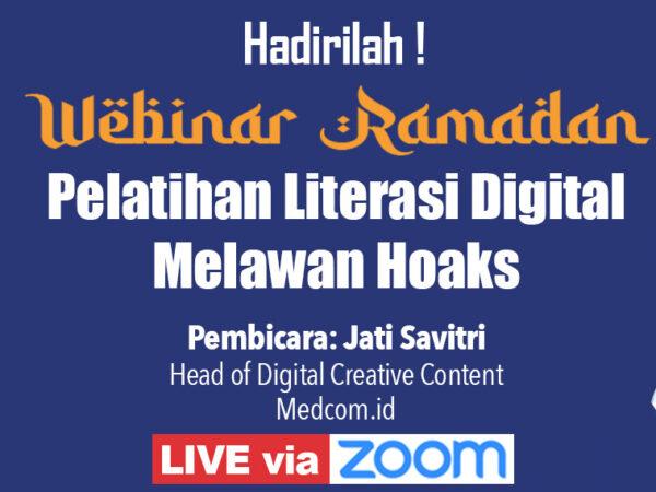 """Pendaftaran Webinar """"Pelatihan Literasi Digital Melawan Hoaks"""""""